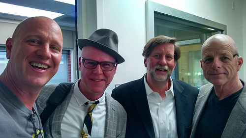 VO, Pastor Jerry Andrews, Archive Thompson, Dave Good at San Diego's Jazz 88.3 Studios