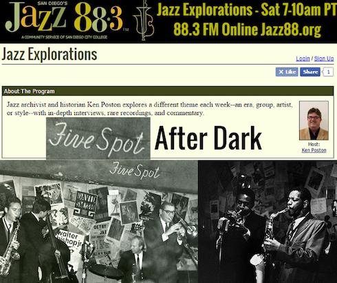 Five Spot After Dark - Jazz Explorations With Ken Poston - KSDS San Diego's Jazz 88.3