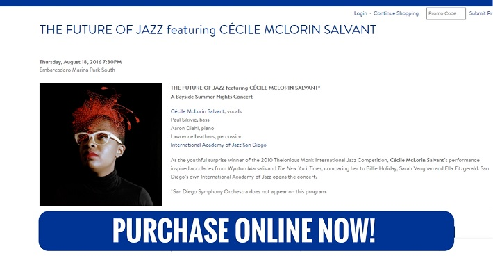 San Diego Symphony Bayside Summer Nights Cecile McLorin Salvant Thursday August 18 2016