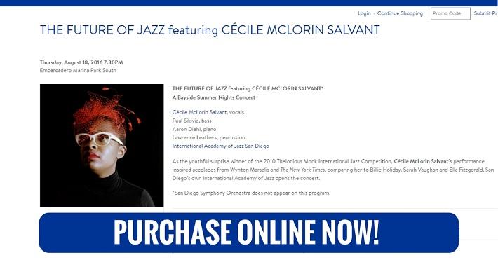 San Diego Symphony Bayside Summer Nights Cecile McLorin Salvant Thursday August 18 2016