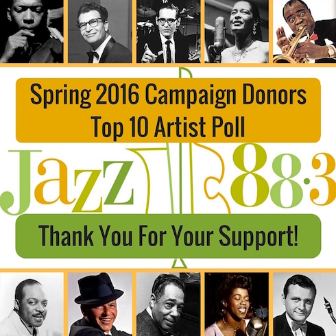 Top 10 Artist Poll - Jazz 88.3 2016 Spring Membership Campaign