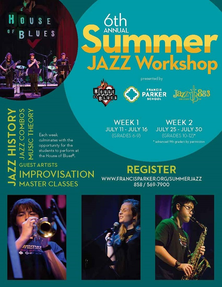 2016 Summer Jazz Workshop presented by Jazz 88.3, House of Blues San Diego, and Francis Parker School