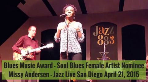 Blues Music Award Nominee Missy Andersen at Jazz 88.3 Jazz Live San Diego April 21, 2015
