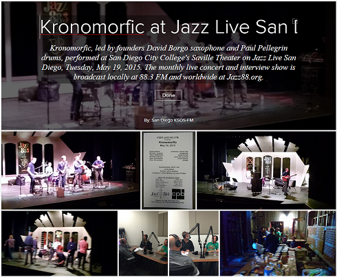 Kronomorfic on Jazz 88.3 Jazz88.org Jazz Live San Diego Tuesday, May 19, 2015