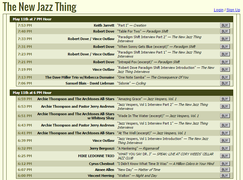 The New Jazz Thing 2015.5.11 - Playlist