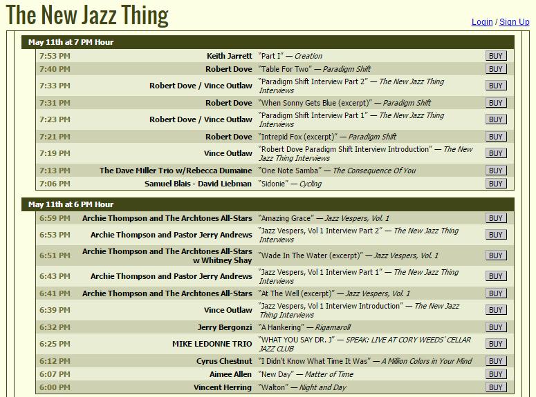 The New Jazz Thing 2015.5.11 - Playlist