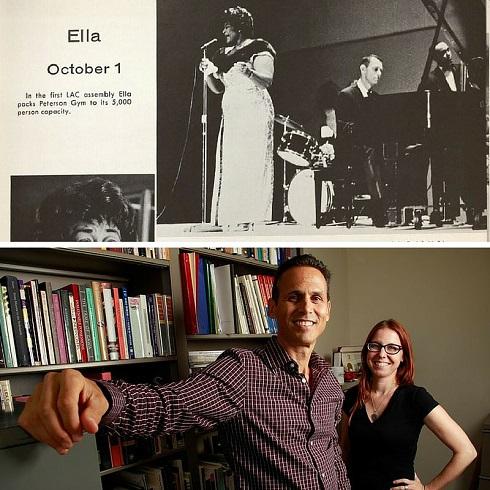 "Ella at SDSU 1961 in SDSU Educators Seth Mallios and Jamie Lennox ""Let It Rock!"""